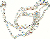 Sterling Silver Chain, crystal jewelry